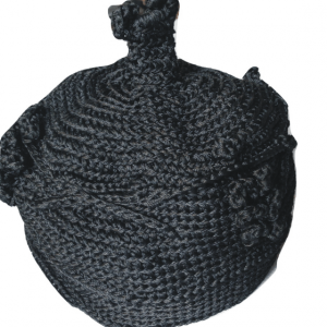 Black Chieftaincy Crochet Cap