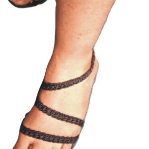 Ladies Dress Sandals Crochet
